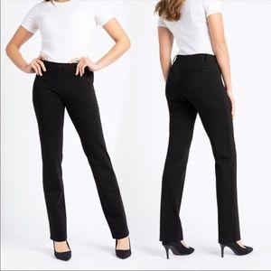 Betabrand Classic Straight Leg Yoga Pants Black Dress Pants XL Long